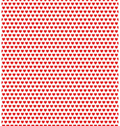 red heart shape pattern vector image