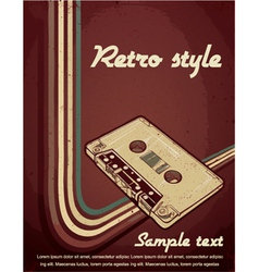 retro concert poster vector image
