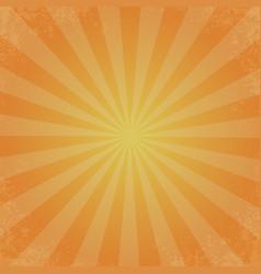 retro of orange color background ray stylish vector image