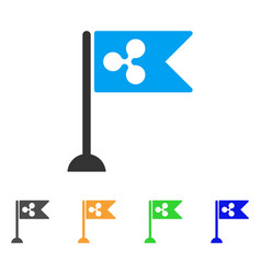 ripple flag marker icon vector image