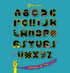 Romantic cipher text you are my superstar vector