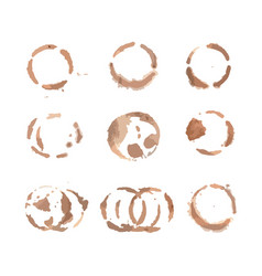 round stains from coffee vector image