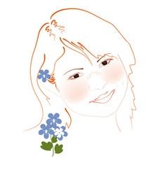 san girl vector image