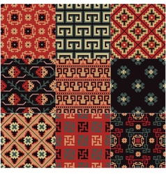 Seamless chinese turkestan pattern vector