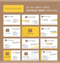 set of 12 video creative busienss card template vector image