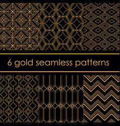 set of luxury beautiful gold vector image