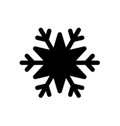 Snowflake black icon cartoon snow flake sign vector