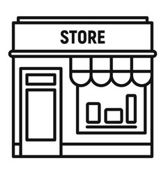 Street shop store icon outline style vector