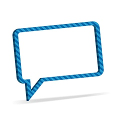 Striped speech bubble vector