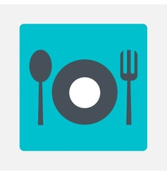 Tableware icon vector