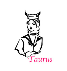 taurus woman vector image