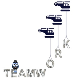 TEAMWORK HELICOPTER vector image