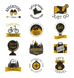 Travel motivation badges set vector image