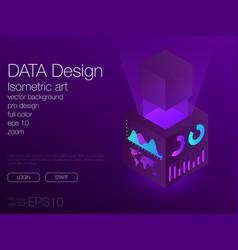 ui neon isometric stock background eps 10 vector image