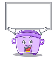 up board rice cooker character cartoon vector image