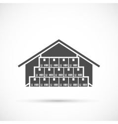 Warehouse icon on white vector image