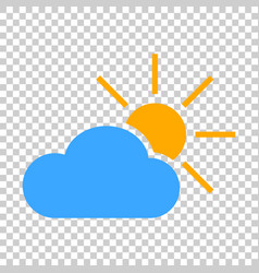 weather forecast icon in flat style sun with vector image