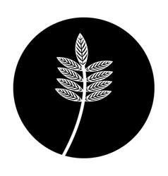 Woodland floral decorative icon vector