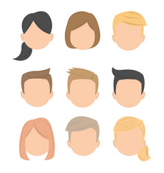 business avatar character working people icon vector image vector image