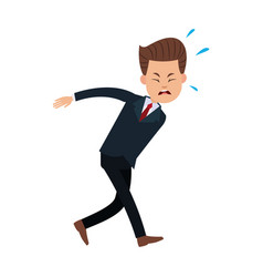 businessman character suffering pain image vector image
