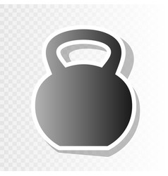 Fitness dumbbell sign new year blackish vector