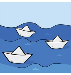 paper boats vector image vector image