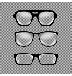 Set of custom glasses isolated vector image