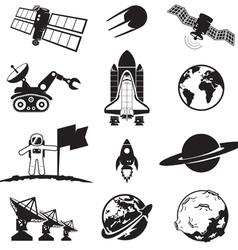 Space programme set vector image