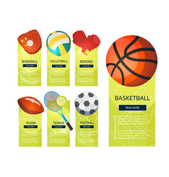 sports vertical banners vector image