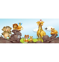 Wild animals in the field vector image vector image