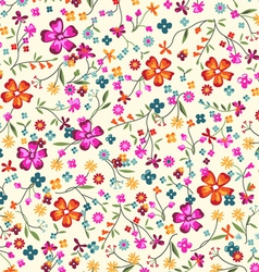 ditsy floral vector image vector image