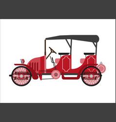 old car or vintage retro collector coach cab vector image vector image