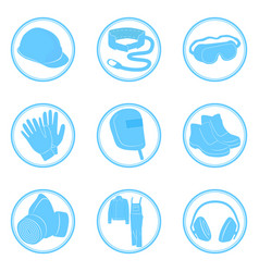 Set of icons personal protective equipment vector