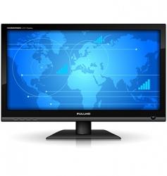 widescreen tft display vector image