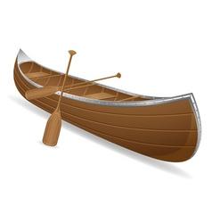 canoe 01 vector image vector image