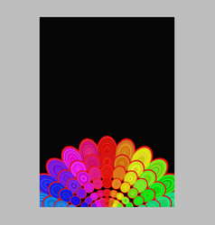 Colorful abstract flower mandala page background vector