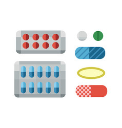 tablets pills medicine medical on white background vector image