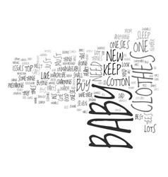 baby clothes the top essentials text word cloud vector image vector image