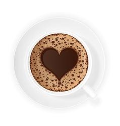 coffee crema 02 vector image vector image