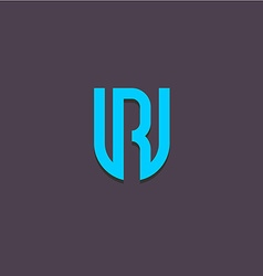 Letters U and R logo vector image