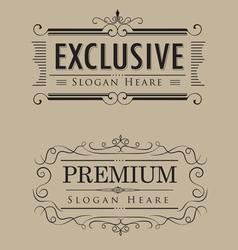 luxury logos template vintage calligraphy elegant vector image vector image