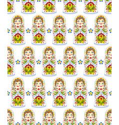 pattern with russian dolls matryoshkas vector image