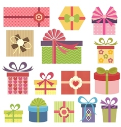 set of presents vector image vector image