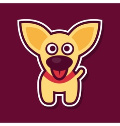 Sweet yellow puppy vector image