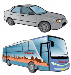 vehicle cartoons vector image vector image