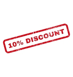 10 Percent Discount Text Rubber Stamp vector