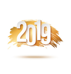 2019 happy new year background for flyers or vector