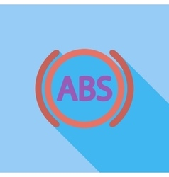 ABS flat single icon vector image