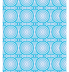 Abstract circles spiral pattern blue and white vector