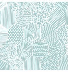 Abstract pattern hand drawing decorative vector